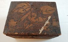 Beautiful Vintage McHenry's Pyrographic Box Cleveland OH Fruit Designs