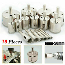 16x Diamond Holesaw Set Holes Saw Drill Bit Cutter Tile Glass Marble Ceramic