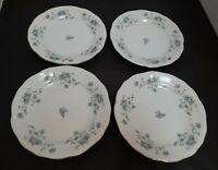 "JOHANN HAVILAND Bavaria Germany Blue Garland Set of 4 - 6 1/4"" Bread Plate MINT"