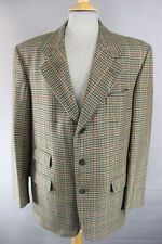 CLASSIC 3 POCKET PURE SCOTTISH WOOL HOUNDSTOOTH CHECKED GREEN TWEED JACKET 40 IN