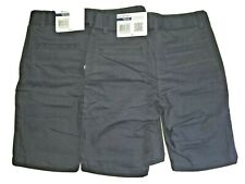 2 pair Izod Adjustable Waist Girls Size 8 Regular Navy Blue Skinny Bermuda Short
