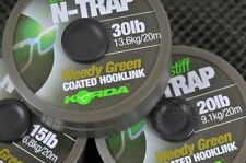 Korda N-Trap Coated Fishing Braid Soft & Semi - Stiff