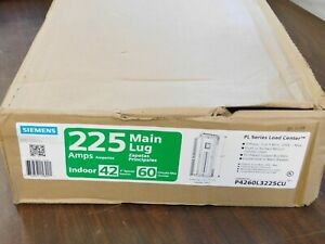 SIEMENS P4260L3225CU 225-Amp 42-Space 60-Circuit 3-Phase Main Lug Load Center VN