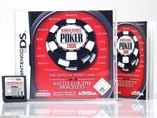 WORLD SERIES OF POKER 2008  ~Nintendo Ds / Dsi / 3 Ds / XL / 2Ds Spiel~