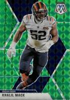 2020 Panini Mosaic Green Prizm Khalil Mack #40 Chicago Bears