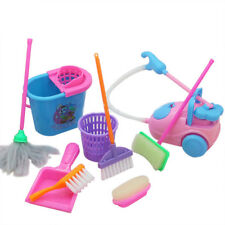 9pcs Kids Pretend Play Toy Broom Mop Bucket Tools Cleaner Cleaning Set