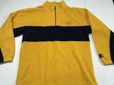 Vintage Starter Half Zip Pullover Fleece Men's L Michigan University %100 Poly