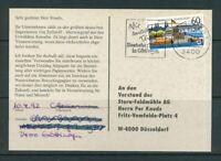 BRD Mi-Nr. 1583X gestempelt auf Postkarte als Einzelfrankatur / EF