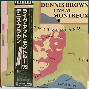 Dennis Brown Live At Montreux (P-10756J).  1979 Reggae Promo LP w/ OBI. Japan