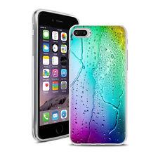 Coque Housse Iphone 7 Plus + Verre Trempé 9 H - Motif Goutte D'Eau