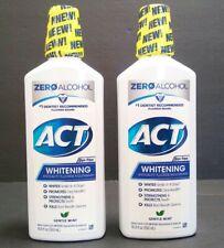 ACT Anticavity & Whitening Rinse 16.9 Ounces Gentle Mint Zero Alcohol (2)