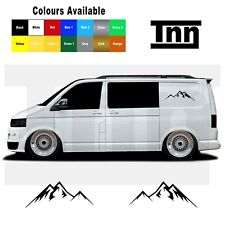 Mountain Sticker For VW Volkswagen Transporter T4 T5 T6 Campervan Caddy Decal