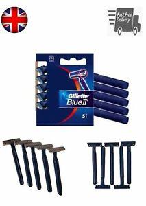 Gillette Blue 2 Disposable Razors Fixed Men Shave Pack of 5 - 10 - 20