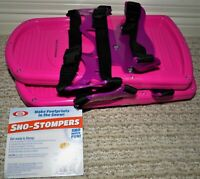 IDEAL SNO-STOMPERS - TRACK MAKERS BEAR, BIGFOOT -KID'S SNOWSHOES - PINK - NEW