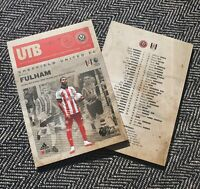 Sheffield United v Fulham PREMIER LEAGUE MATCHDAY PROGRAMME 17/10/20! IN STOCK!!