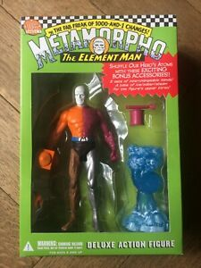 METAMORPHO , THE ELEMENT MAN DELUXE ACTION FIGURE, DC Direct, Very Scarce, MIB