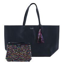 Victoria's Secret Tote Bag Set Black Friday Shopper Sequin Pouch Vs New Nwt
