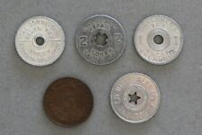 (5) Different States Sales Tax Tokens, Nice Tokens!