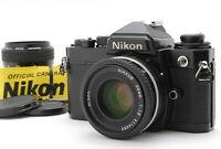 [Near Mint] NIKON FE Black w/ Ai-s NIKKOR 50mm F/1.8 & AI NIKKOR 28mm F/2.8 JP