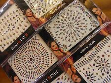 1 x Random Pack Indian Bindi Stick On Jewellery Bollywood Body Art Crystal