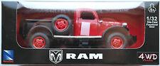 NewRay - ´46 / 1946 Dodge Power Wagon Pickup rot/schwarz 1:32 / Spur 1 Neu/OVP