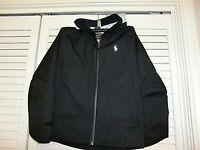 Polo Ralph Lauren Boys 7 Black Performance full zipper front Hoodie jacket coat