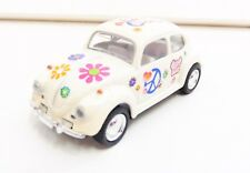 "Volkswagen Beetle Blanche ""Peace and Love"" 1/64 ""3 Inche"" Diecast Friction NEUF"