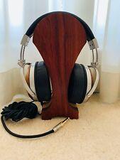 Emu Teak Headphones with I&S Millworks Premium Wooden Headphone Stand Bundle
