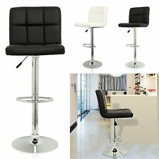 New 2pc Kitchen Breakfast Bar Stools Pu Swivel Counter Chair Footrest Barstools