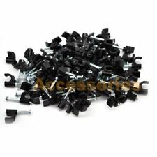 25x Single Nail Clips Black for RG59 RG6 Coax Coaxial Wire Cat5e Ethernet Cable