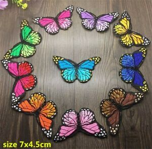 butterfly iron on badges/ patch heat transfer DIY cloth bagde