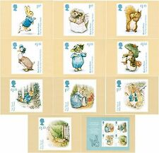 Beatrix Potter Royal Mail Mint PHQ 418 complete set 11 cards