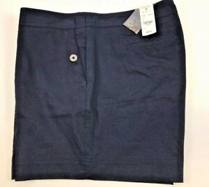 NWT BROOKS BROTHERS Size 12 Women's Flat Front Navy CLASSIC FIT Casual Short