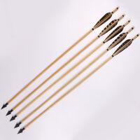 Handgefertigte Holzpfeile Truthahnfeder für 25-50lbs Langbogen Recurve Bogen