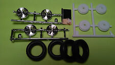 1964 1/2 ford mustang convertible 1/24 chrome rims wheels tires backing hubs lot