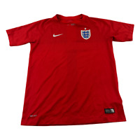 Nike England Soccer Jersey Youth Extra Large Red White Futbol Dri Fit Kids