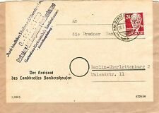 Gebiet SBZ Echte Ungeprüfte Deutsche Briefmarken der sowjetischen Besatzungszone mit Bedarfsbrief
