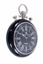 Pocket Watch Wall Clock with black face and Surround