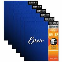 6set Elixir 12002 Nanoweb Super Light Electric Guitar Strings 9-42