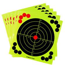 5pc 12in Shooting Targets Adhesive Splatter Paper Glow Gun Shots Rifle Exercises