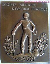 MED3985 - MEDAILLE SOCIETE MILITAIRE D'ESCRIME PRATIQUE
