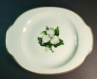 "American Limoges China Glamour Trillium 22K 13"" Oval Serving Platter G-410"