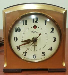 "1939 Telechron #7H93 ""New Telalarm"" Brass color w/Bakelite Band Ala. Runs Great!"