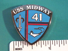 USS  MIDWAY 41 -- hat pin , lapel pin , tie tac , hatpin GIFT BOXED (L) #54751