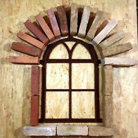750A  Antik Stallfenster Guss Eisen Fenster Trockenmauer Steine Natursteinmauer