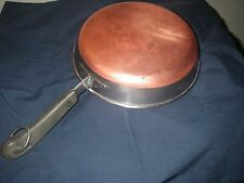 VINTAGE REVERE WARE 8 INCH FRY PAN COPPER BOTTOM ORIGINAL HANDLE WITH RING