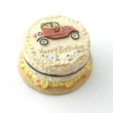 Dolls House Miniature: Birthday Cake with vintage car motif   12th Scale