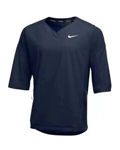 NIKE Baseball 3/4 Sleeve Lightweight Pullover Jacket Navy Blue Men's L 897383$85