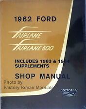 1962 1963 1964 ford fairlane mercury meteor factory shop service manual  reprint (fits: 1963 ford fairlane)