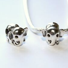 ELEPHANT - african - indian - Solid 925 sterling silver European charm bead